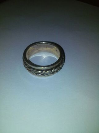 Silver 925 Braided Spin Ring