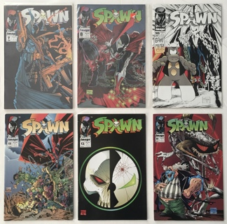 SPAWN Lot of 6 Image Comic Books from the 1990s