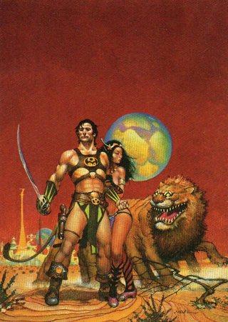 1996 Don Maitz Fantasy Art Trade Card: John Carter of Mars