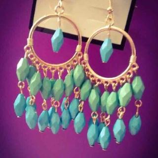 Dream-catcher earrings