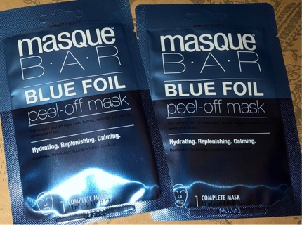 BNIP Two 'Masque: Blue Foil' Peel Off Hydrating, Revitalizing, Calming Complete Face Masks