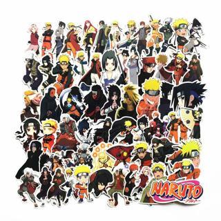 63Pcs/lot japan anime Naruto sasuke Cartoon For Snowboard Laptop Luggage Fridge Car- Styling Vinyl