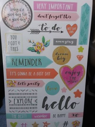 Very important beautiful scrapbooking sticker sheet Lowest gins always! Selling out!