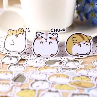 ⭐️ Adorable Hamsters Kawaii High End Sticker Flakes Set of 10 BRAND NEW ⭐️