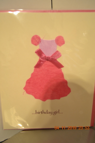 ****NIP 3D BIRTHDAY GIRL CARD W/ENVELOPE***FREE SHIPPING