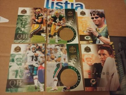 HALL OF FAME QB's⭐BRETT FAVRE⭐DAN MARINO⭐6 CARDS⭐1998 PINNACLE ⭐FREE $HIPPING
