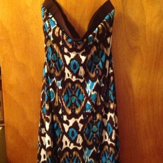 Cute Strapless Summer Dress Sz 10