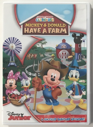 Disney Junior Mickey Mouse Clubhouse: Mickey & Donald Have a Farm DVD Movie - Mint Disc!