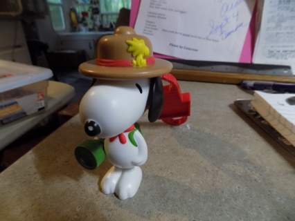 Snoopy of Peanuts Comics Forest Ranger holds flashlight pvc keychain