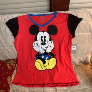 Brand New 2X Mickey Mouse Sleeping T Shirt