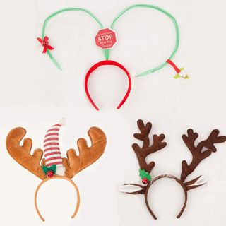 2Pcs New Christmas Headband Cute Reindeer Antlers Hairband Party Headwear Accessories
