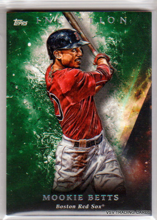 Mookie Betts, 2018 Topps Inception Card #90, Boston Red Sox
