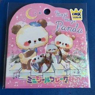 SALE ☆ Moji Moji Panda Kawaii Sticker Flakes Sack BRAND NEW ☆
