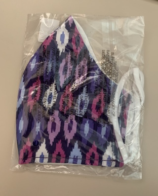VERA BRADLEY COTTON FACE MASK NWT Color: Lilac Ikat
