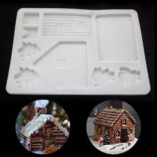 New Creative DIY Silicone Christmas House Xmas Cake DIY Mold Baking