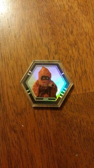 TOPPS GALACTIC CONNEXIONS COLLECTABLE DISC CLEAR FOIL JAWA