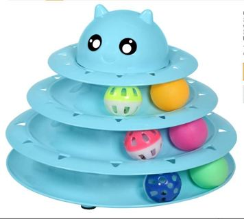 HUGE SALE! Cat 3 Level Towers Tracks Roller with Six Colorful Ball
