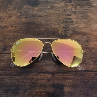 Rayban Aviator Rose Gold Sunglasses