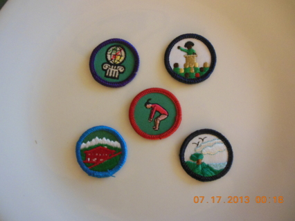 ***5 Girl Scout Badges***
