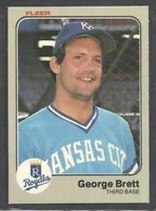 Free 1983 Fleer Baseball Card 108 George Brett Kc Royals