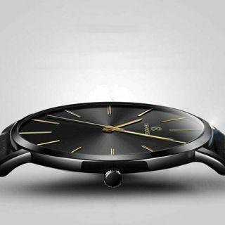 Men's Ultra Thin Minimalist Watch Slim Steel Strap Stainless Steel Quartz US HOT