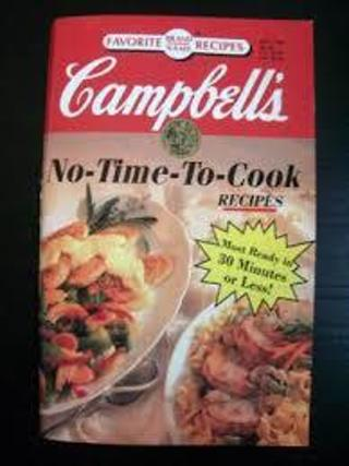 cookbook,CAMPBELL'S NO TIME TO COOK  BOOK ,96 PAGES
