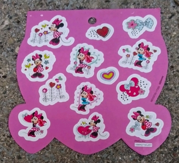 MINNIE MOUSE STICKERS 3 SHEETS