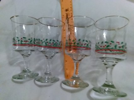 4 christmas glass