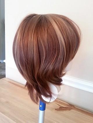 BNWT Short Shag Auburn Shades Synthetic Wig