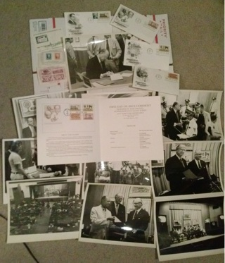 LOT Vintage Post Office Ceremony Black & White Photos First Issue Party FREE SHIPPING