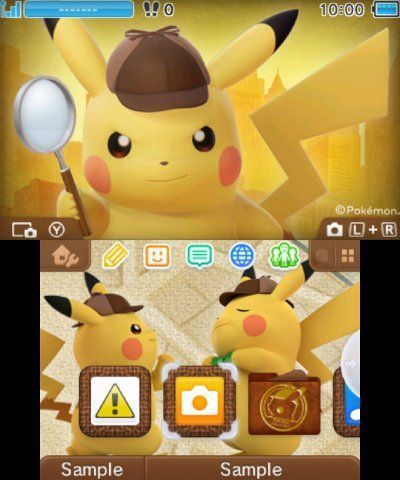 Free Detective Pikachu 3ds Home Theme Digital Code Video Game