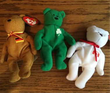 Set of 3 Teenie Beanie Babies