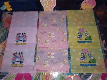 ❤❇️❤❇️❤️6 BRAND NEW DISNEY GIFT/TREAT BAGS WITH GUSSET BOTTOM❤❇️❤❇️❤3 DESIGNS/2 OF EACH!
