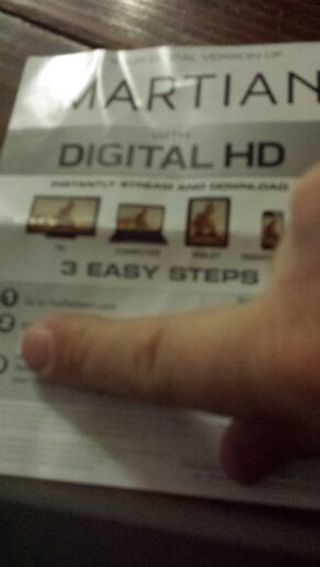 The Martian Digital HD code