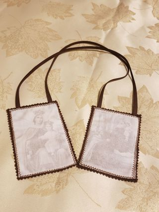 Large Brown Scapular~ Our Lady of mount Carmel