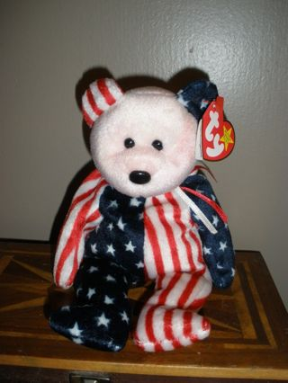 FREE  TY Beanie Baby Bear Spangle Bear with Rare Pink Face Original Mint  Condition! f17eee314c8