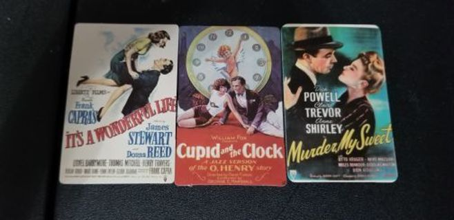 Lot of 3 Vintage Movie Posters Restickable Stickers