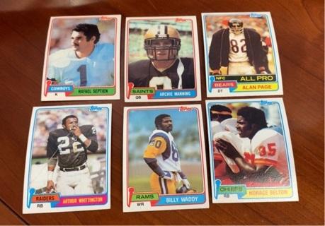 1981 Topps Football lot