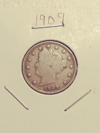 1909 Liberty V Nickel! Nice Date! 83