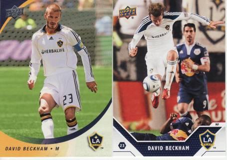 DAVID BECKHAM TRADING CARD LOT - 2008 UPPER DECK MLS & 2011 UPPER DECK SOCCER