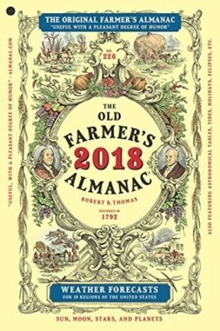 Brand New 2018 Farmer's Almanac!