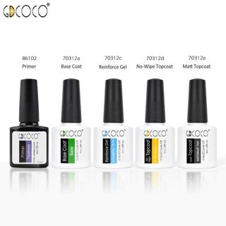 #70312 GDCOCO 2019 New Product No Wipe Top Coat Primer Soak Off UV LED Gel Nail Polish Base Matt C