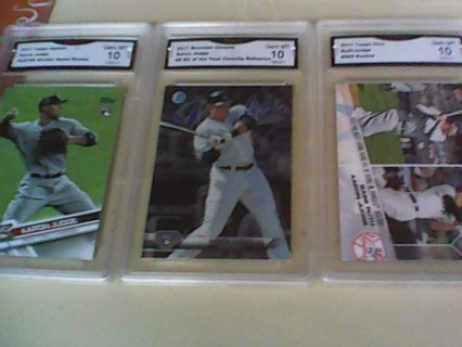 Three Different Aaron Judge Gem Mint Rookie Cards