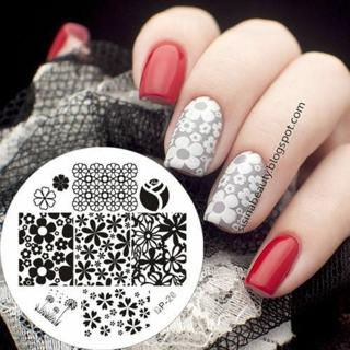 BORN PRETTY Nail Art Stamping Template Image Plates Manicure Flower Design BP20