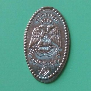 SCOTTISH RITE CONSISTORY Masonic Elongated Pressed Penny - Free Shipping