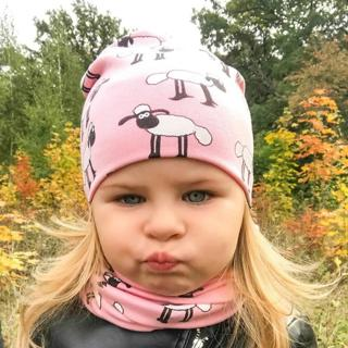 Baby Hats Animal Printing Cotton Baby Caps Children Hat Scarf 2pcs Set Caps For Baby Boy Brand Kid