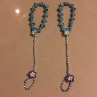 7 sets of 'One of a kind UniQu' beach & bathing suit anklets  ❤ Made especially for Mary ~