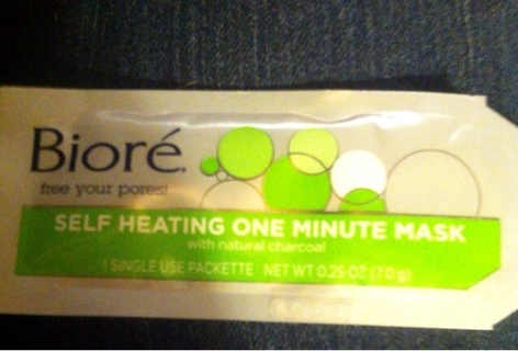 Bioré self heating one minute mask