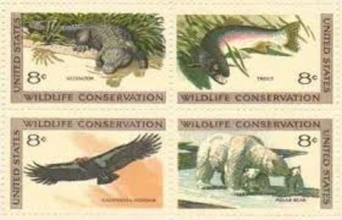 12 unused 8 cent value us  wildlife conservation postage stamps