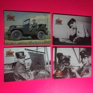 4 Elvis 1992 Army Cards!
